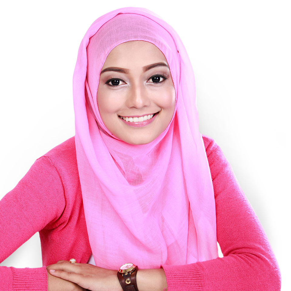 Confident Muslim woman smiling